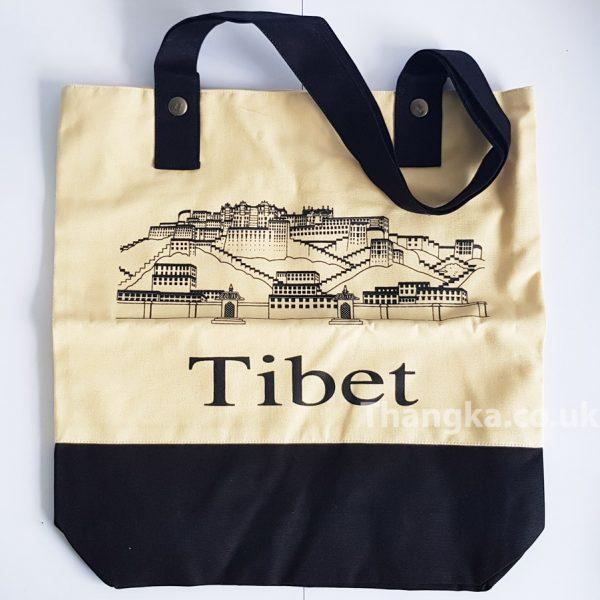 Fabric Reusable Bag Tibet Potala Palace Design
