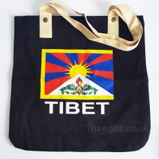 Black Fabric Shopping Bag Tibet Flag