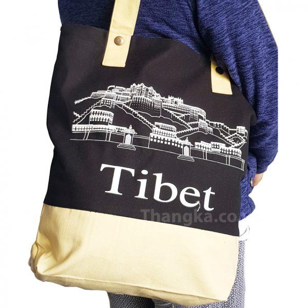 Fabric Shopping Bag with Potala Palace Tibet design