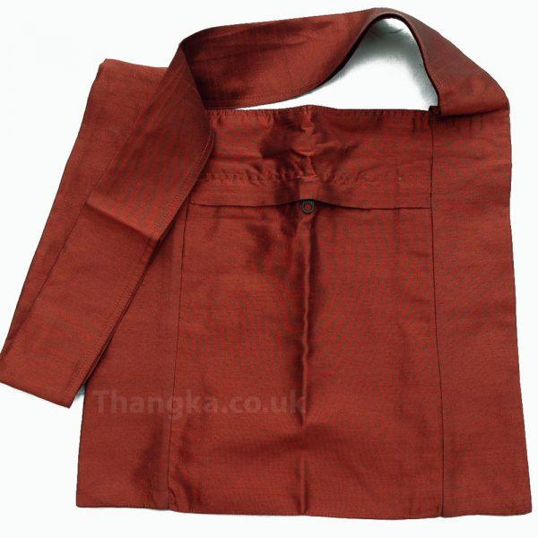 Rusty brown colour plain fabric shopping bag