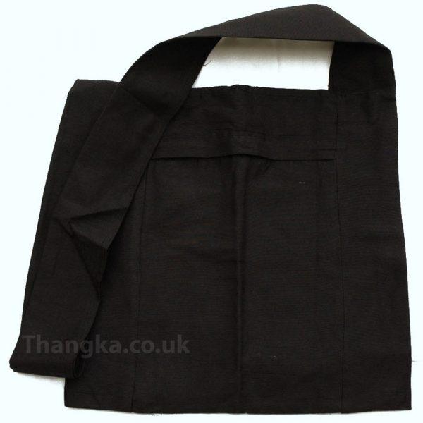 Plain black fabric shopping bag Lama bag