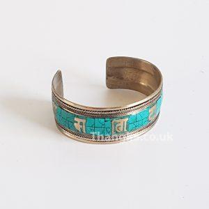 image of tibetan turquoise metal bracelet