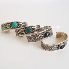 image of metal and stone tibet bracelet