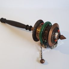 image of handheld prayer wheel