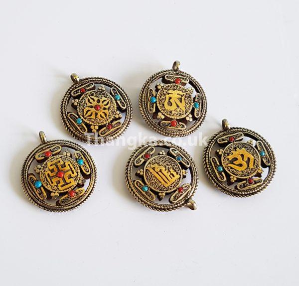 variations of the tibetan mandala design pendant