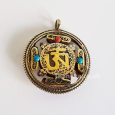 Om Mandala cut out pendant double sided