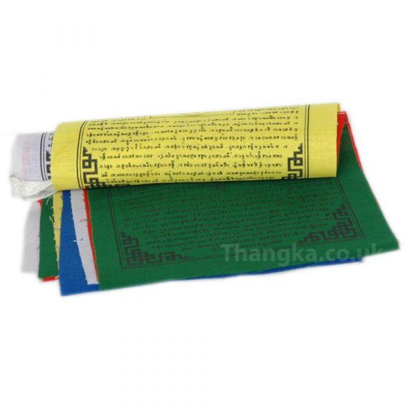 Green Tara Print Tibetan Prayer Flag Roll