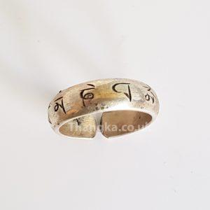 tibetan mani mantra open ring
