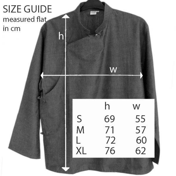 Tibetan Shirt Size Guide