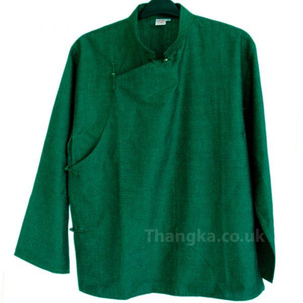 Green Tibetan Traditional Shirt