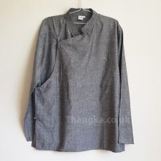 Grey cotton tibetan shirt traditional style