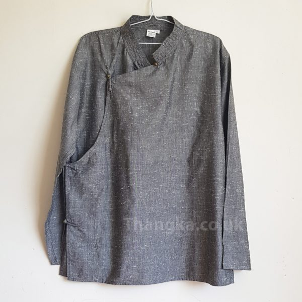 Grey cotton tibetan shirt traditional style
