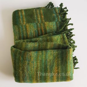 Green Tibet Blanket Shawl
