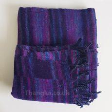 Deep Purple Tibet Blanket Shawl