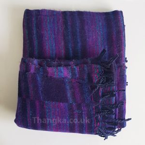 Deep Purple Tibet Blanket Shawl