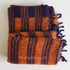dark orange tibet blanket fleece shawl