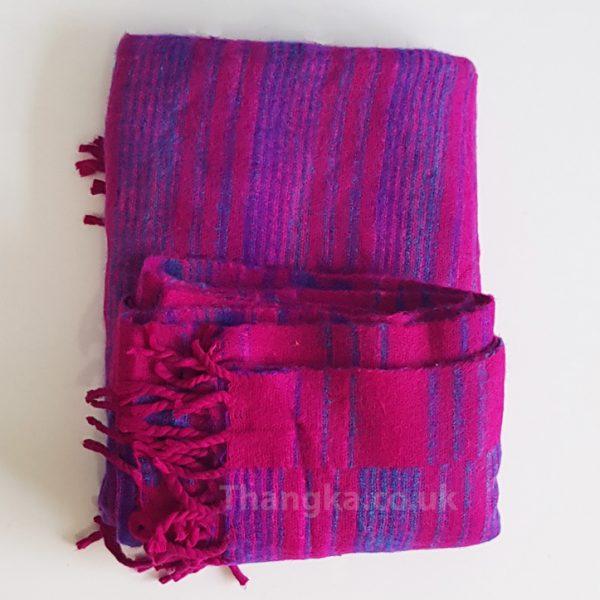 Super Soft Bright pink fleecy blanket shawl