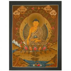 Sakyamuni thangka painting
