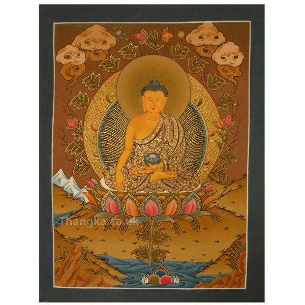 Sakyamuni thangka painting