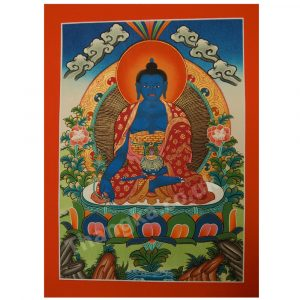 Men Lha thangka of Medicine Buddha thanka