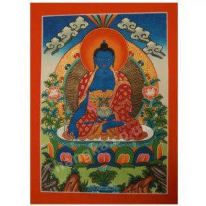 Men Lha thangka of Medicine Buddha thanka