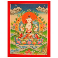 Chenresig thangka painting
