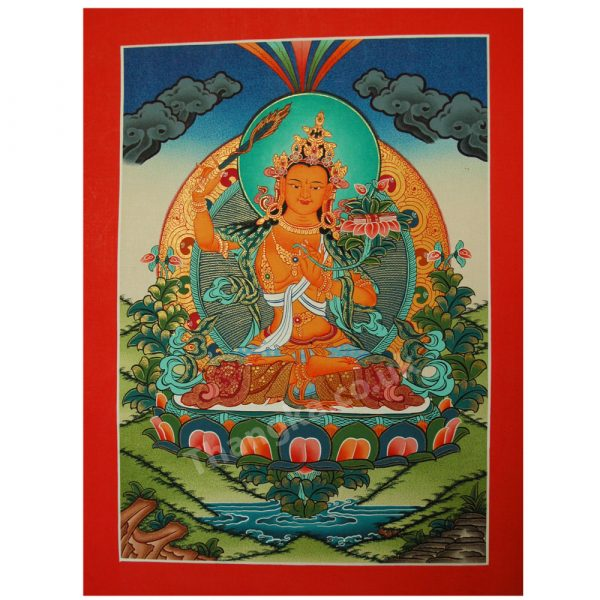 thangka of wisdom deity manjusri