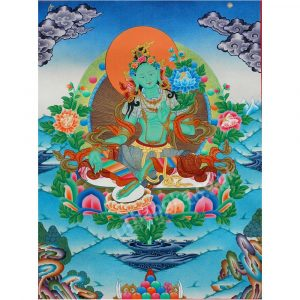 image of green tara