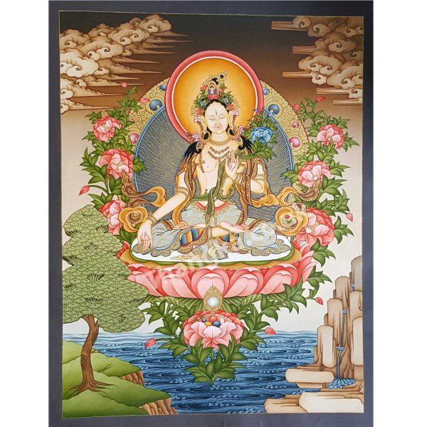 White Tara painting