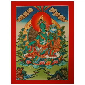 thangka of green tara