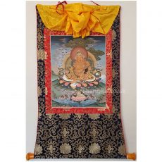 image of framed zambala thangka