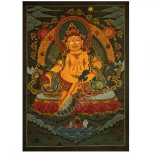 image of zambala thangka