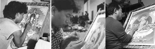 tibet thangka artist through the ages